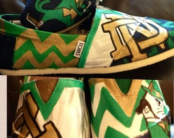 Custom Painted Notre Dame Toms