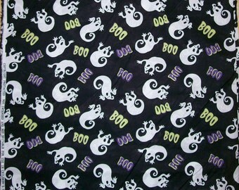 A Boo Ghosts Halloween Holiday Cotton Fabric BTY Free US Shipping