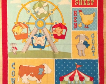 An Adorable Cuteville Couty Fair With Ferris Wheel Fabric Panel Free US Shipping