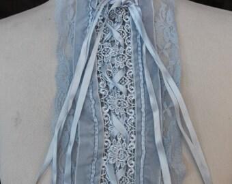 Cute  lace   applique  1 piece listing  baby blue    color