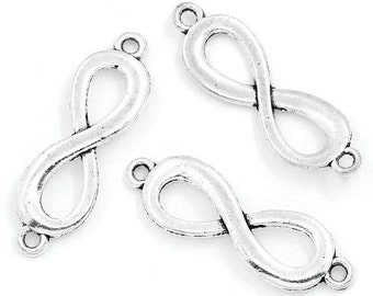 20pcs Silver Infinity Charm - Silver Large Infinity Charm - Infinity Connector - Infinity Beads - Infinity Pendants 081  - Wholesale Charms