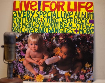 """ON SALE Bob Marley Sting R.E.M. Jeff Beck Vinyl Record Album 1980s Live Music Special Lp, """"Live! For Life""""(1986 Irs Records w/""""Lively Up You"""