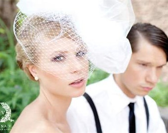Wedding Veil High Fashion Pouff Veil -- Show-Stopping Tulle and French Netting Bridal Veil -- avant garde, bride, headpiece