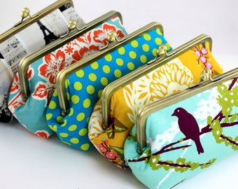 Design your own clutch - 8 inches clutch - Bridesmaid clutch - Over 300 fabulous fabrics to choose from