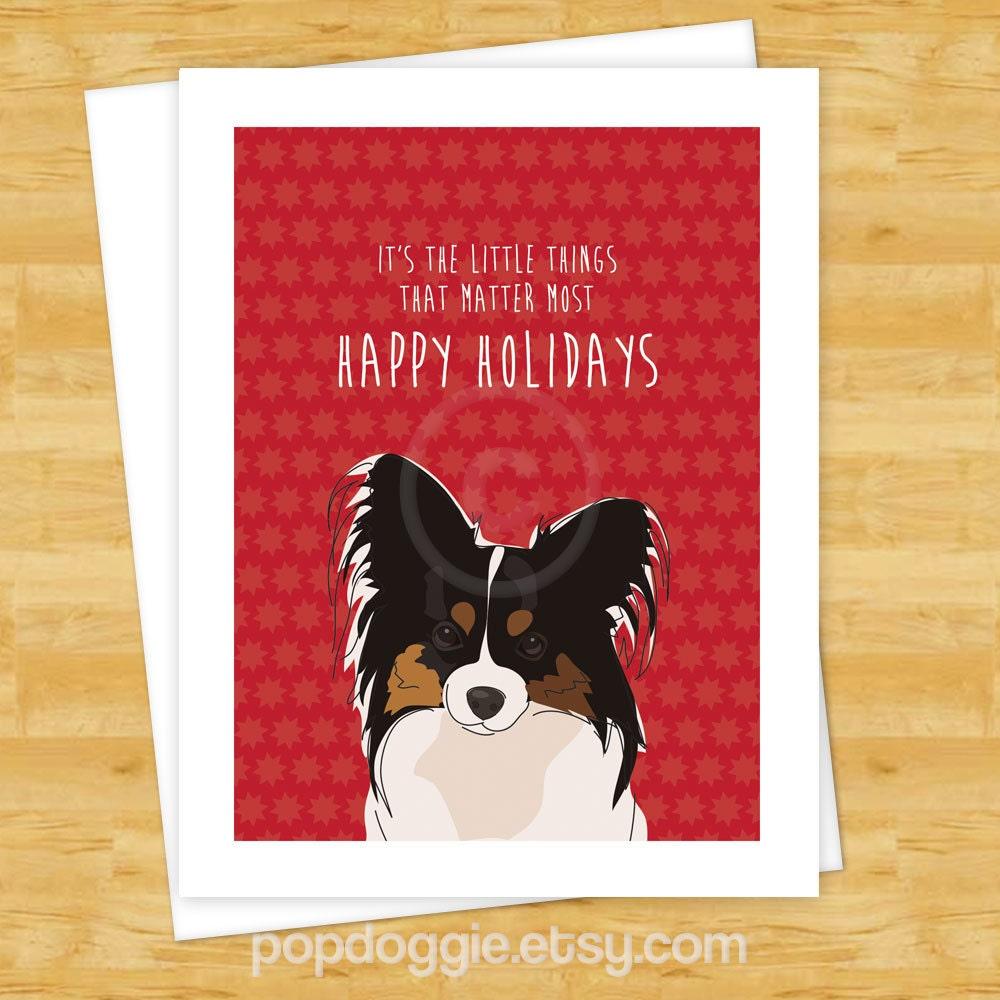 Dog Christmas Cards Papillon Its The Little Things That