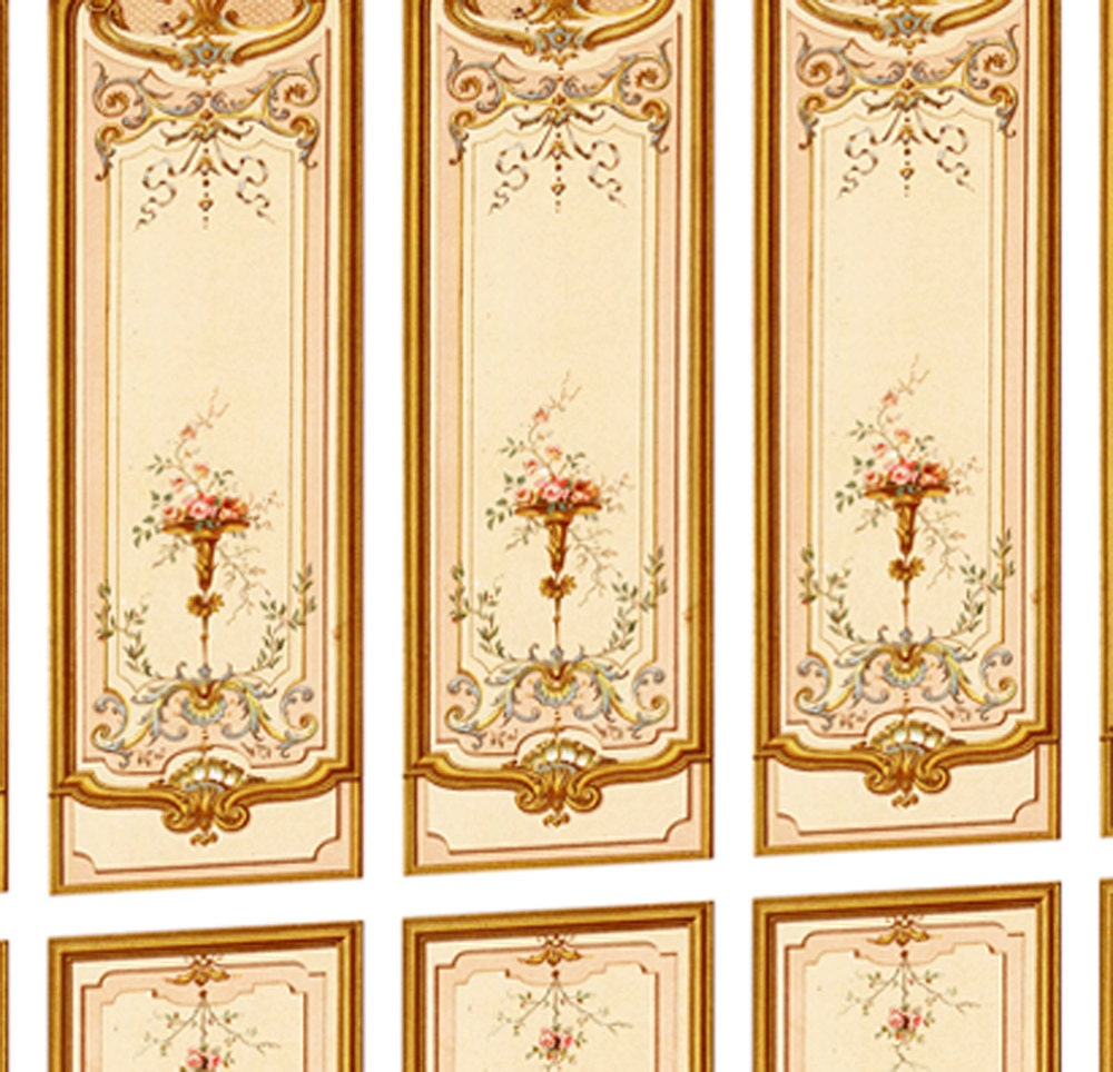 Victorian Wall Panels Wallpaper 1 12th Or 1 24th Scale 05