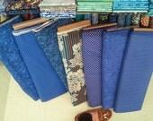 Set of 6 Custom Groomsmen bow ties - Blues
