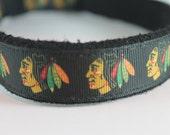 Chicago Blackhawks hemp dog collar or leash