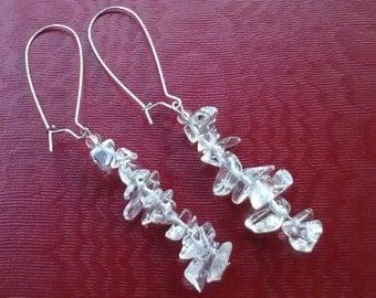 silver metal Crytal earring