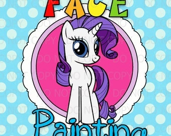 "Printable DIY Pony Friends Party Face Painting station sign - 11""x14"""