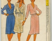Loose Fitting Blouson Dress With Wrap Bodice Sewing Pattern - Vogue 7926 - Size 12