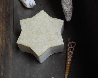 Astraea // Goddess of Stars. Sweet Orange & Cedar Wood Handmade Vegan Bath Soap. Small Star Struck Shaving Handmade Artisan Indie Organic
