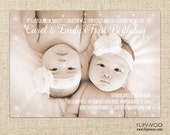 Fairy Dust Photo Birthday Invitation by FLIPAWOO - Customized Printable File