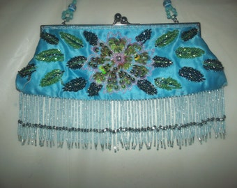 Vintage Turquoise evening bag