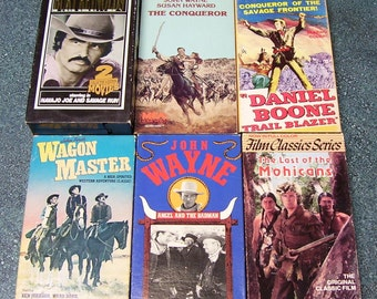VHS Western Movies - Set of 7 John Wayne, Burt Reynolds, Harry Carey,   Jr. 1983-1994