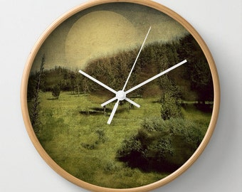 Mountain Wall Clock Art Clock Nature Modern Home Decor Abstract Art