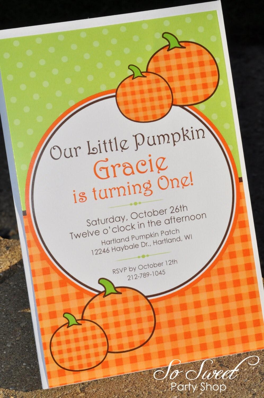 pumpkin birthday invitations pumpkin baby shower