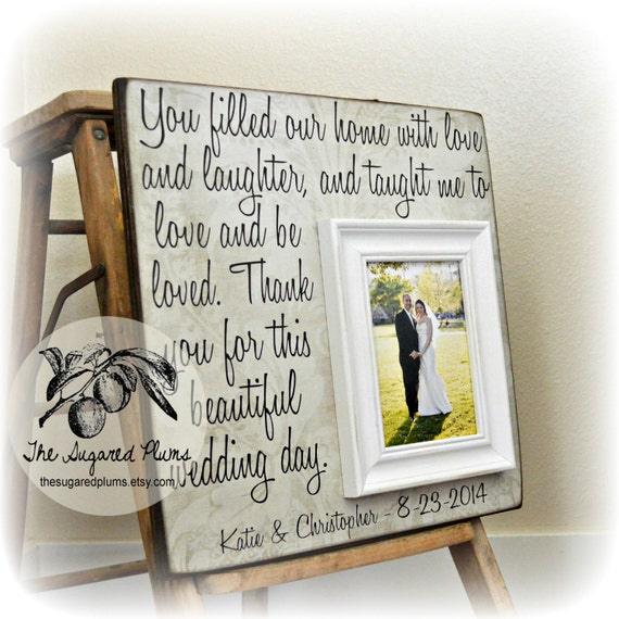 Wedding Gifts For Parents Photo Frames : Wedding Frame For Parents, Thank You Gift For Parents, Wedding Gift ...