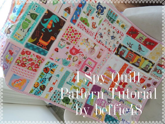 I Spy Kids Quilt Tutorial with Photos, pdf, Instant Download