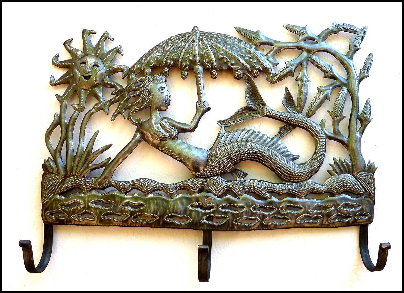 Metal Wall Hook Mermaid Art Metal Art Metal Towel Hook