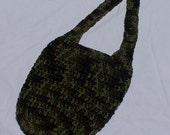 Crocheted Tote ( Optional Coin Purse, Accent Buttons )
