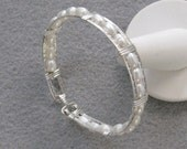 Fresh Water Pearl and Sterling Silver 7 inch Bracelet