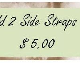 2 Side Straps Option -- Add on for Purse Organizer