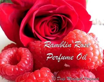 Ramblin' Rose Perfume Oil: Sweet, red raspberries, red roses, sandalwood, jasmine, spice, Berry Perfume
