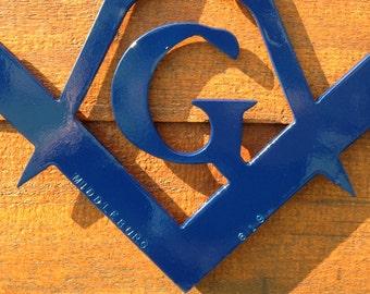 "Masonic Emblim/Symbol - Iron - 12"" - Personalized"