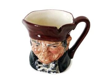 Royal Doulton Tiny Toby Jug  Old Charley Character Mug, Collectible Character Series Jug, Made in England, 1930s