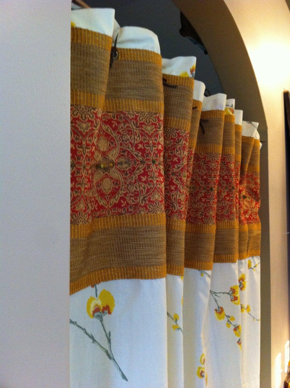 Shower Curtain New Vintage Style Long Curtain Bath Curtain