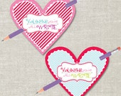 You're All Write Valentine's Day Pencil Tag (Printable Digital File) - Perfect for Class Party!