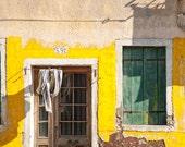 Yellow House   Burano Italy   Fine Art Print