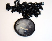CLEARANCE - Spooky Shadow Halloween Glass Pendant Necklace - Aull About You