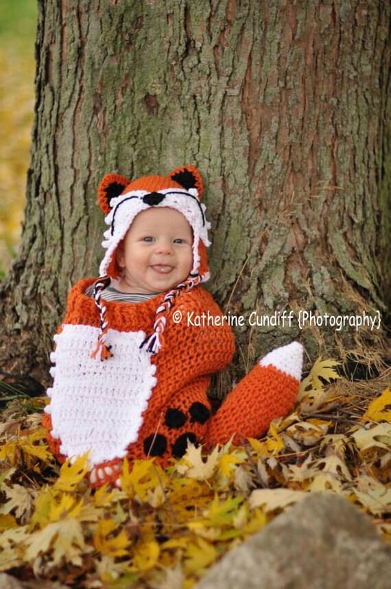 crochet Fox Hat and Cocoon Set