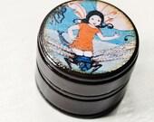 wooden powder box flying fairy