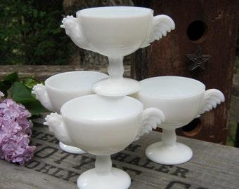 4 Westmoreland Rooster Custard Cups - Egg Cups - Oak Hill Vintage