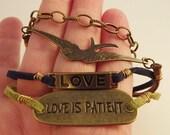 Love is Patient-Blue, brown, & Green
