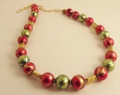 Fall Colors Metallic Bead Necklace