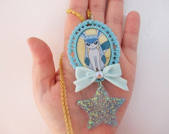 SALE! Pokémon Necklace - GLACEON - Decora, Kawaii