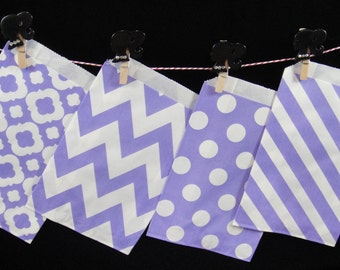 Lilac Favor Bags, Candy Buffet Bags, Candy Bags, Bakery Bags, Paper Bags, Birthday Parties, Packaging, Baking Supply, Wedding - Qty 12
