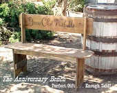 WEDDiNG / ANNiVERSARY - Country Primitive - LOVER's BENCH ~ FREE SHiPPiNG! ~ Crafted 2B Signed - Perfect Gift ~ 42''Seat - C Photos-Details!