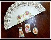 Custom RECYCLED BROKEN Heirloom CHINA Plate Jewelry - Reserved for Kyle