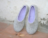Woman slippers - women house shoes, felted slippers, handmade, made to order, sheep wool - Valentine's day gift