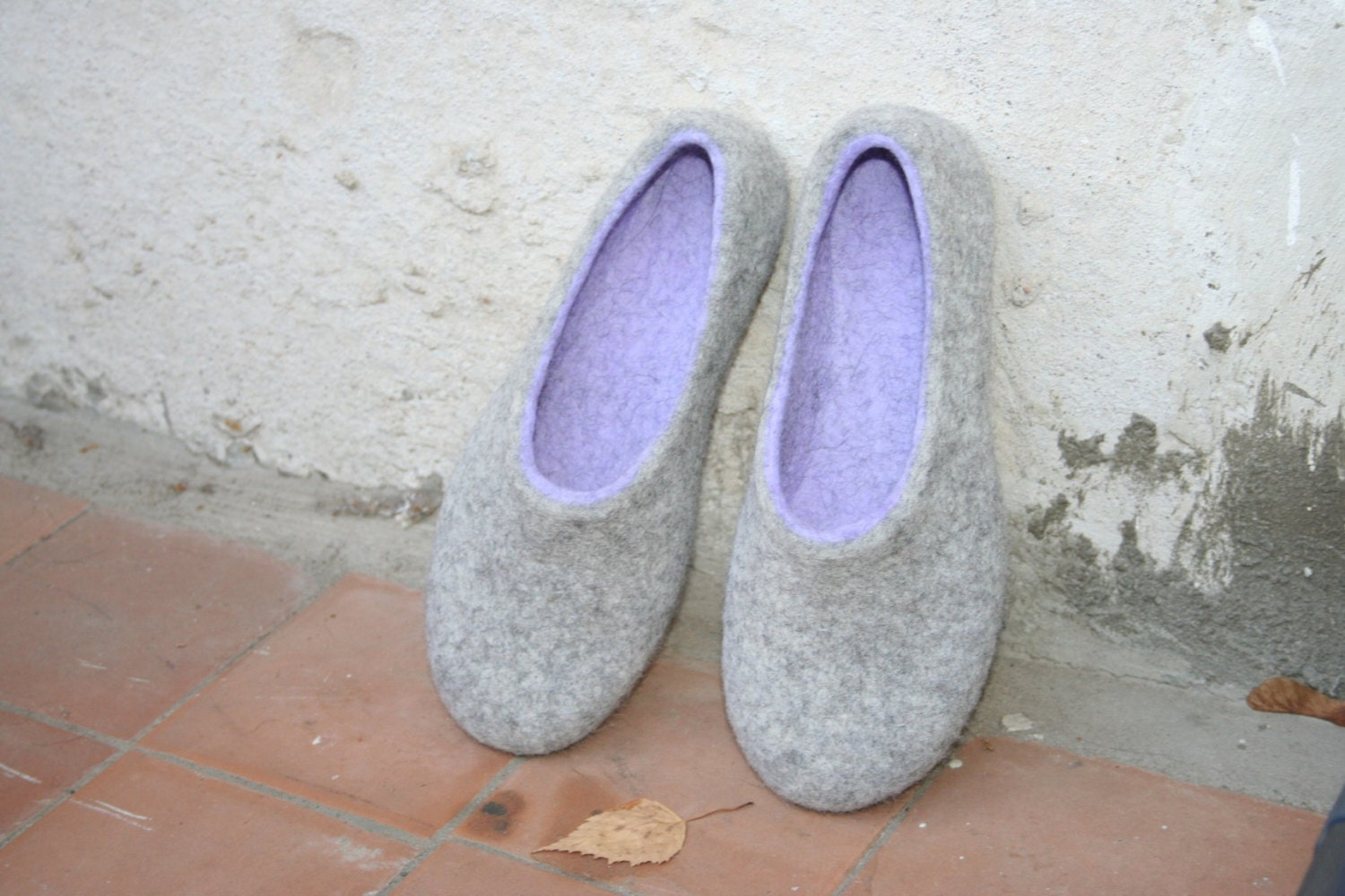 Woman slippers women house shoes felted slippers handmade