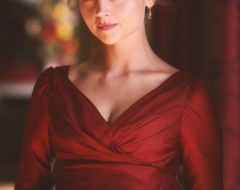 Regency Dress, Wrap Front Gown. Jane Austen. CUSTOM MADE to order