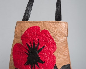 Recycled Poppy Print Handbag