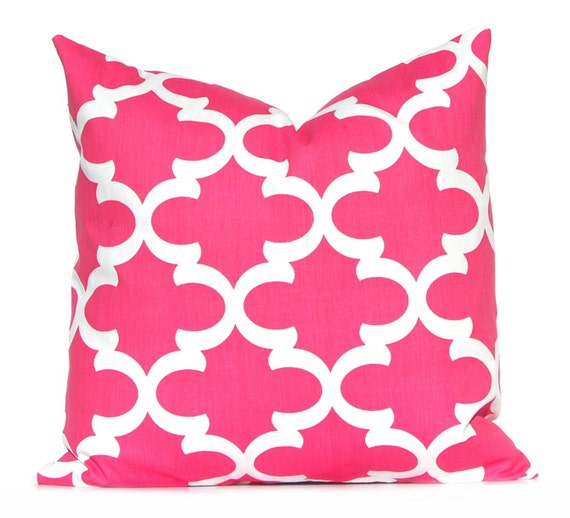 Pink Throw Pillows For Couch : Pillow Decorative Pillow Hot Pink Throw Pillow by FestiveHomeDecor