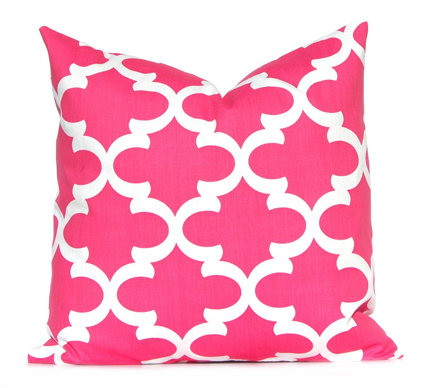pink pillow decorative pillow hot pink throw pillow cover. Black Bedroom Furniture Sets. Home Design Ideas