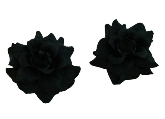 12 PCS. 1.75 inches Mini Black  Rose flower Craft and Decoration